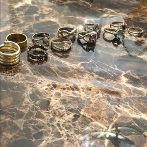 bundle of costume jewelry rings